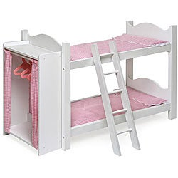 Badger Basket Doll Bunk Beds with Armoire