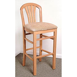 Fan-back Natural Barstool