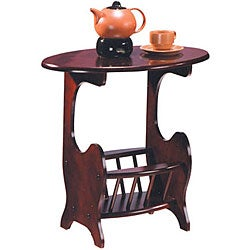 Cherry Finish Magazine Rack End Table