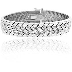 Icz Stonez Sterling Silver Cubic Zirconia Bracelet