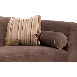 Portofino Chocolate Velvet Sofa