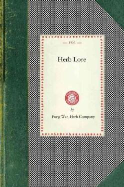 Herb Lore (Paperback)