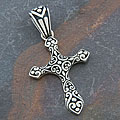Sterling Silver 'Cawi Motif' Cross Pendant (Indonesia)