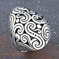 Sterling Silver 'Cawi Motif' Ring (Indonesia)