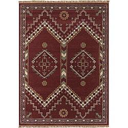 Hand-tufted Transitional Mandara Wool Rug (8' x 11')