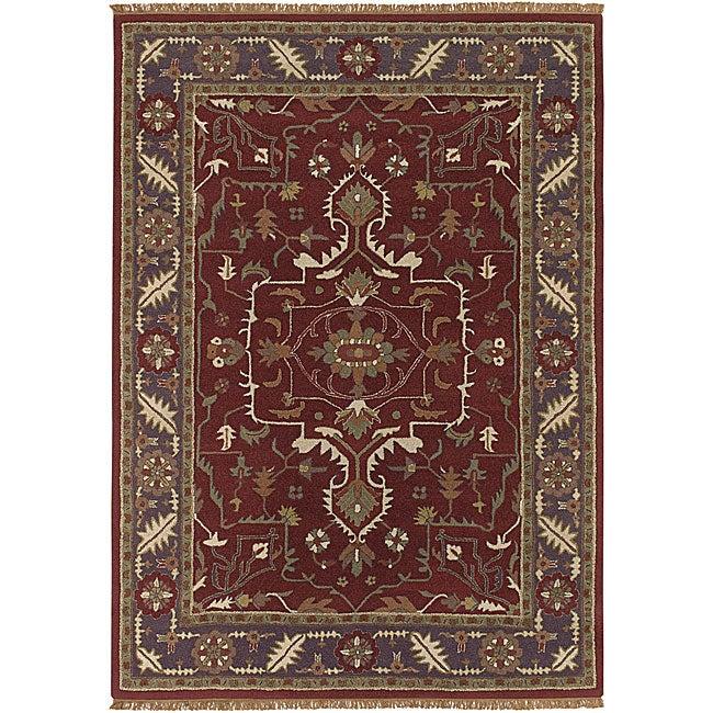 Hand-tufted Traditional Mandara Wool Area Rug (8' x 11')