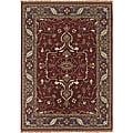 Hand-tufted Traditional Mandara Wool Area Rug (8' x 11')