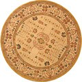 Handmade Treasured Sand Wool Rug (4' Round)