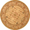 Handmade Treasured Sand Wool Rug (8' Round)