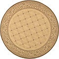 Indoor/ Outdoor Bay Natural/ Brown Rug (6'7 Round)