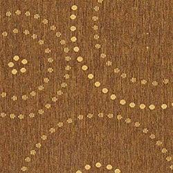 Indoor/ Outdoor Resort Brown/ Natural Rug (5'3 x 7'7)