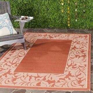 Safavieh Indoor/ Outdoor Paradise Terracotta/ Natural Rug (6'7 x 9'6)