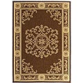 Indoor/ Outdoor Sunny Chocolate/ Natural Rug (2' x 3'7)