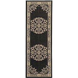 Indoor/ Outdoor Sunny Black/ Sand Rug (2'4 x 6'7)