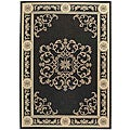 Indoor/ Outdoor Sunny Black/ Sand Rug (6'7 x 9'6)