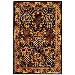 Safavieh Handmade Majestic Black New Zealand Wool Rug (4' x 6')