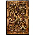 Handmade Majestic Black New Zealand Wool Rug (4' x 6')
