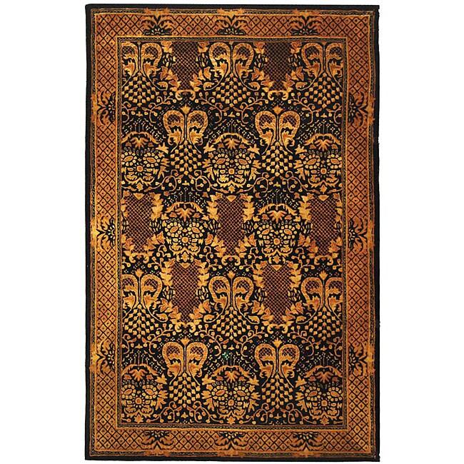 Safavieh Handmade Majestic Black New Zealand Wool Rug (6' x 9')