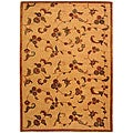 Handmade Paradise Gold New Zealand Wool Rug (6' x 9')