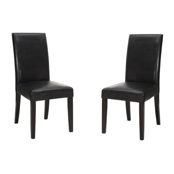 High-back Bicast Leather Side Chair (Set of 2)