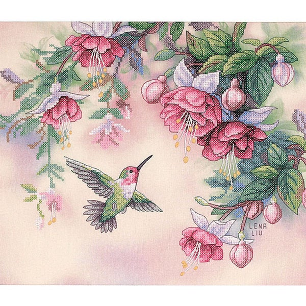 Hummingbird Stamped Cross Stitch Kit