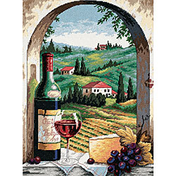Tuscan View Needlepoint Kit