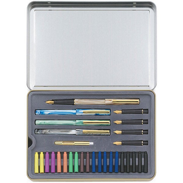33-piece Staedtler Calligraphy Pen Set with Pens, Nibs, etc.