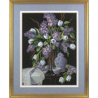 Lilacs and Lace Crewel Kit