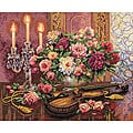 Gold Collection Romantic Floral Cross Stitch Kit
