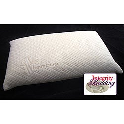 Italian 4-inch Memory Foam Pillow with Rayon from Bamboo Cover