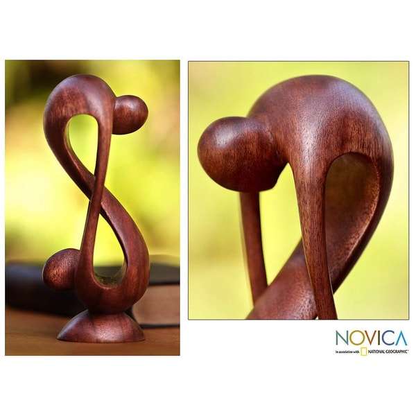 Wood 'Indivisible Love' Statuette (Indonesia)
