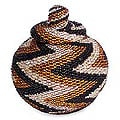 Beaded 'Small Thunder' Rattan Basket (Indonesia)