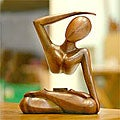 Wood 'Graceful Arc' Statuette (Indonesia)