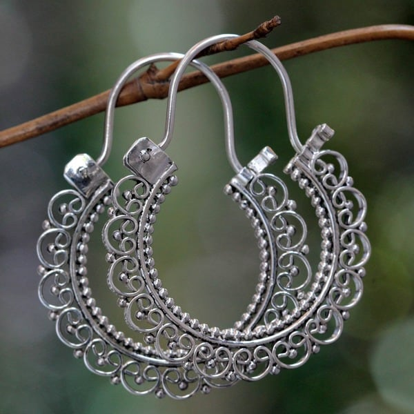 Sterling Silver 'Balinese Lace' Earrings (Indonesia)