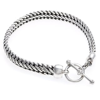 Sterling Silver 'Links of Power' Bracelet (Indonesia)