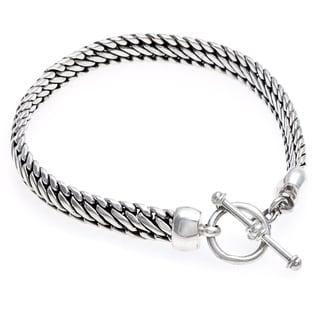 Sterling Silver 'Links of Power' Bracelet (Indonesia)