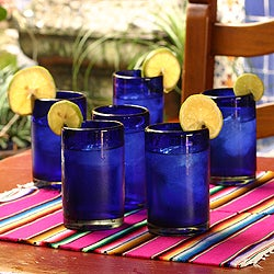 Set of 6 'Solid' Drinking Glasses (Mexico)