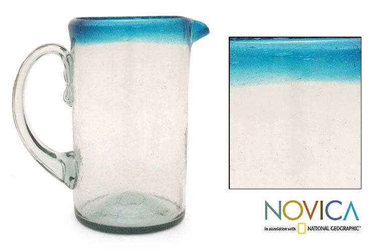 Glass 'Aqua' Pitcher (Mexico)