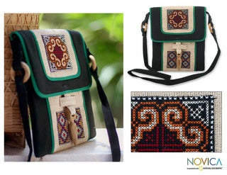Hemp 'Colors of the Night' Shoulder Bag (Thailand)