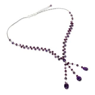 Amethyst and Crystal 'Lilac Ice' Choker (Thailand)