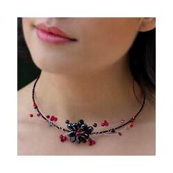'Crimson Beauty' Garnet Choker (Thailand)