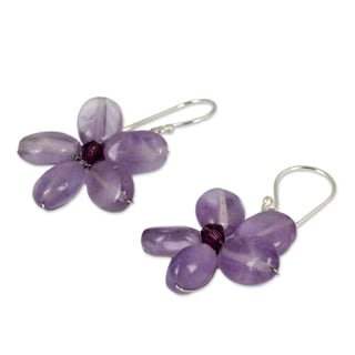 Amethyst 'Mystic Daisy' Earrings (Thailand)