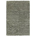 Hand-woven Shaggy Silver Polyester Rug (6' x 9')