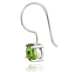 Glitzy Rocks Sterling Silver Euro Wire Peridot Earrings