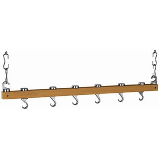 Dual Track Natural Wood Ceiling Rack
