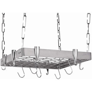 Square Stainless Steel Pot Rack