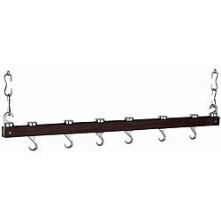 Dual-track Espresso 36-inch Kitchen Ceiling Rack