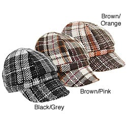 Adi Designs Plaid Fleece Lined Cap