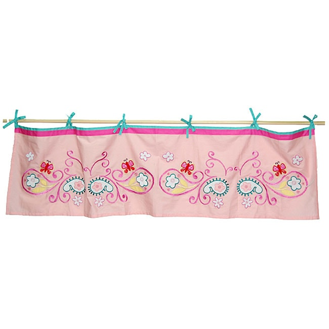 Tadpoles Butterfly Paisley Tie-top Valance
