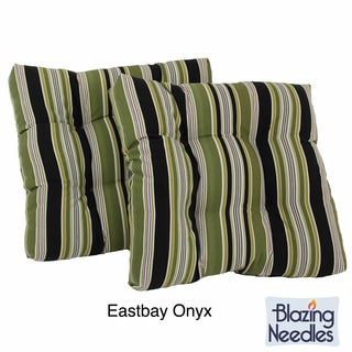 Outdoor UV-Resistant Square Chair Cushions (Set of 2)